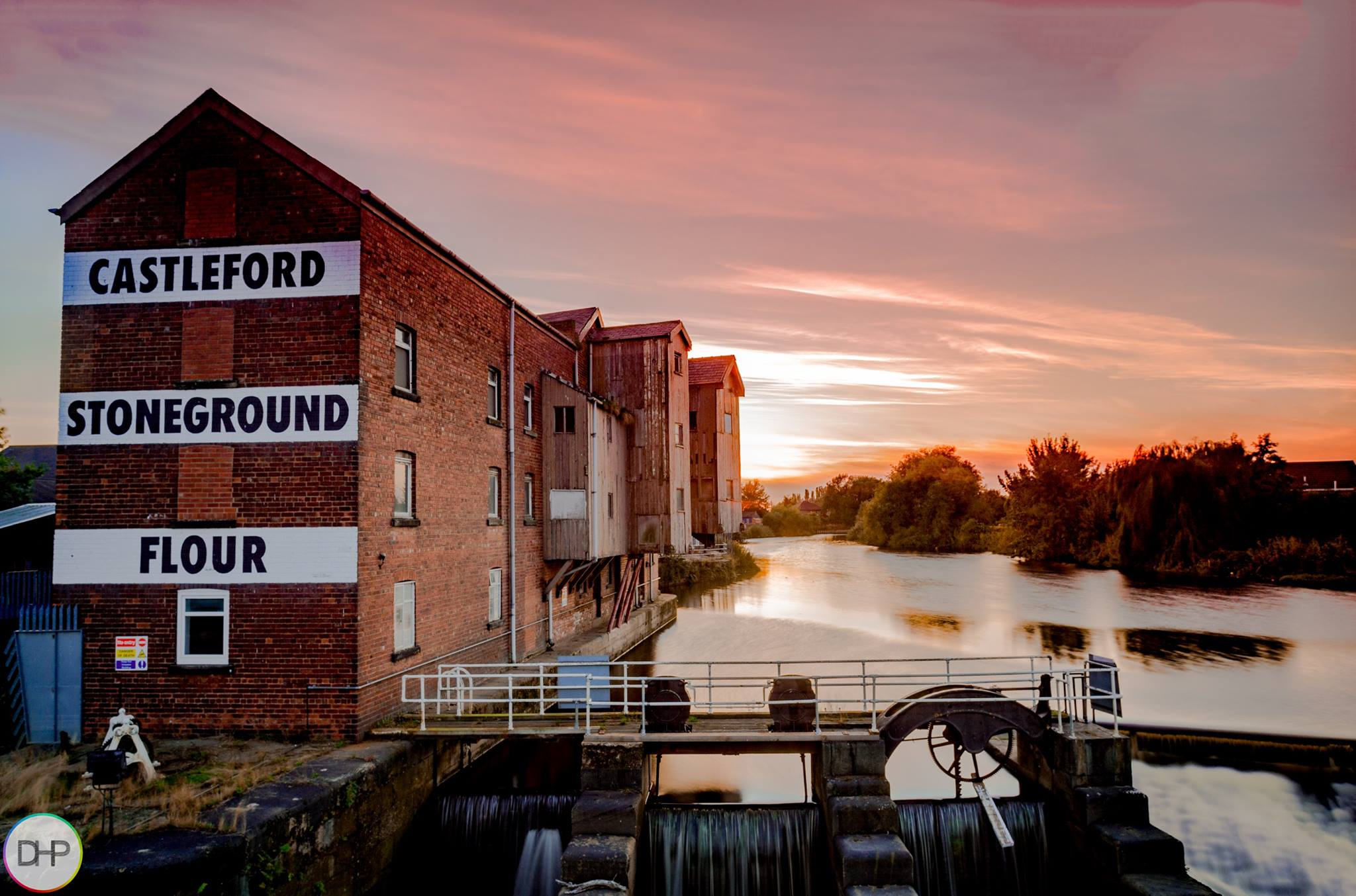 Sunset behind the Queens Mill Castleford