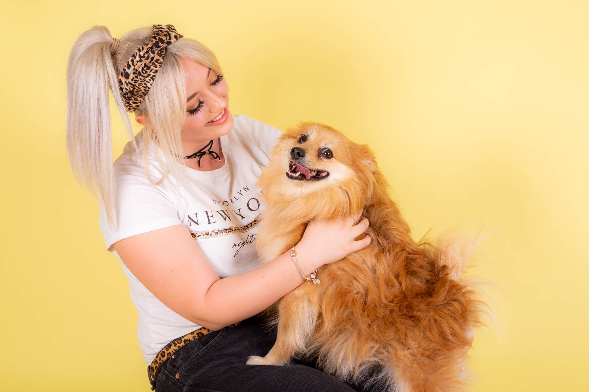 lady with dog portrait